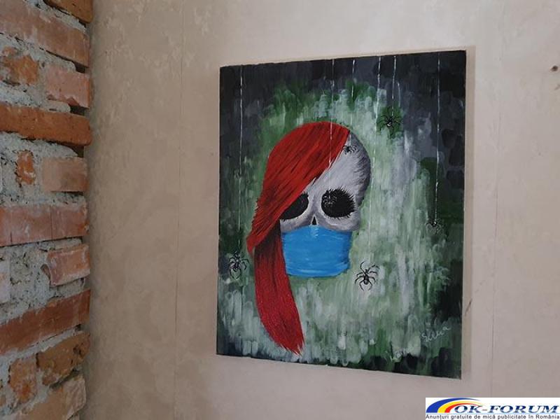Pictura pe panza in culori acrilice diverse teme - 2