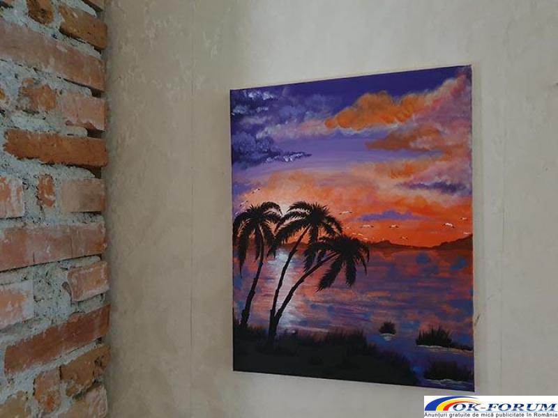Pictura pe panza in culori acrilice diverse teme - 3
