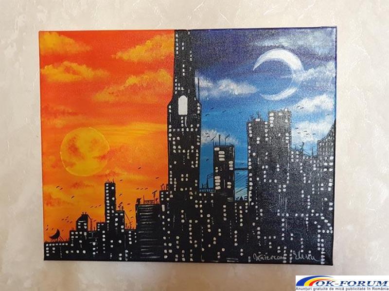 Pictura pe panza in culori acrilice diverse teme - 5