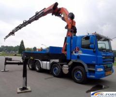 Inchiriez camion cu macara PK 72000, lungime brat 28 m, capacitate 22 tone.