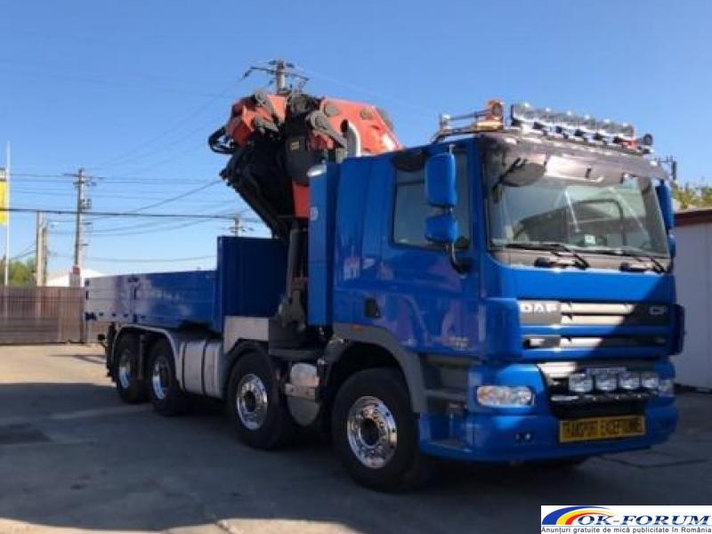 Inchiriez camion cu macara PK 72000, lungime brat 28 m, capacitate 22 tone. - 2