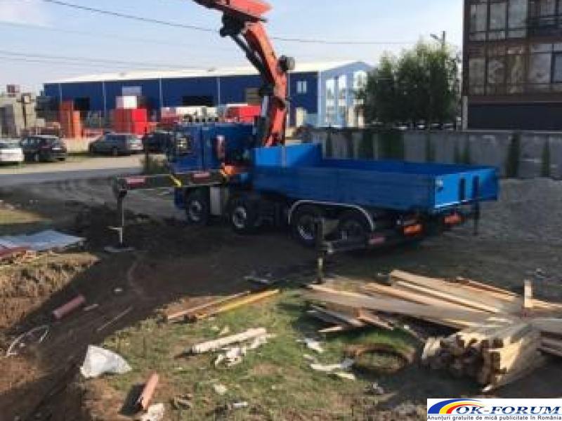 Inchiriez camion cu macara PK 72000, lungime brat 28 m, capacitate 22 tone. - 3