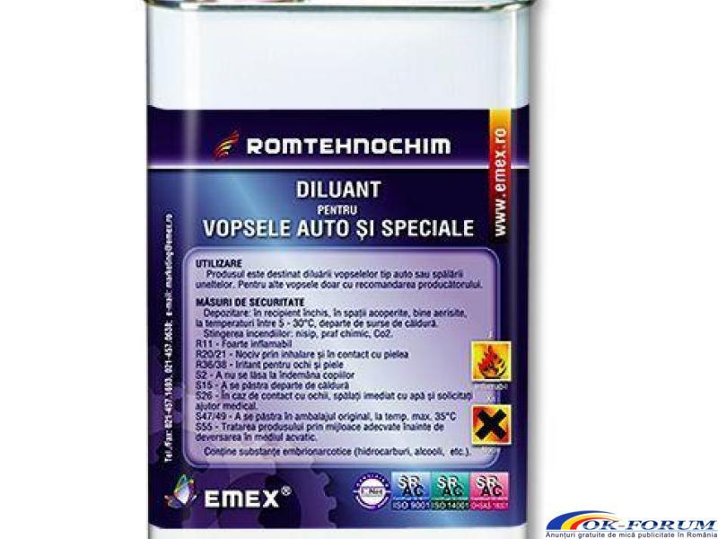 Diluant pentru Vopsele Auto si Speciale EMEX - 1