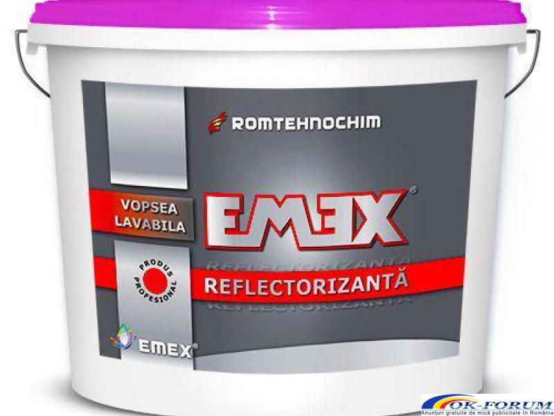 Vopsea Lavabila Reflectorizanta EMEX - Necesita perle reflectorizante - 1