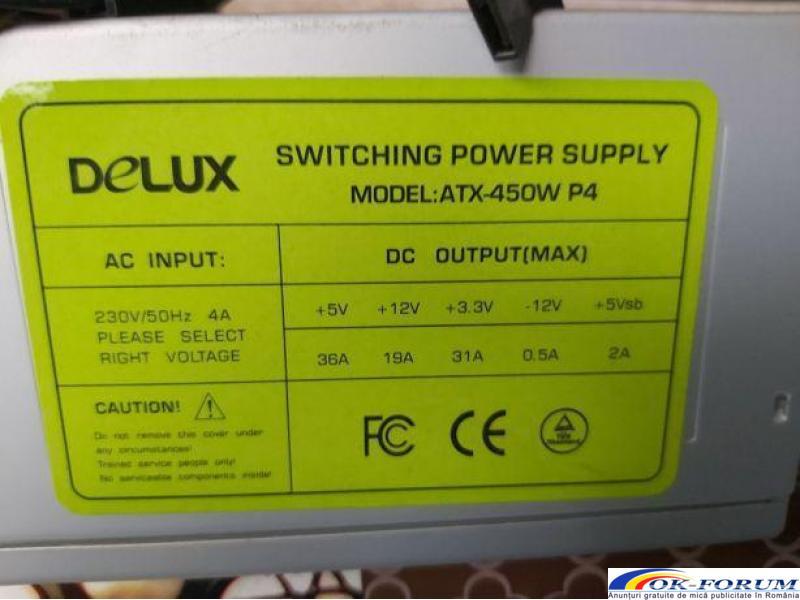 Sursa calculator PC, DeLux model ATX-450W P4 - 1