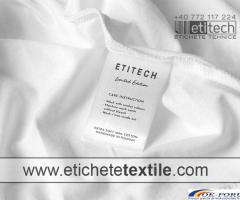 Etichete textile imprimate
