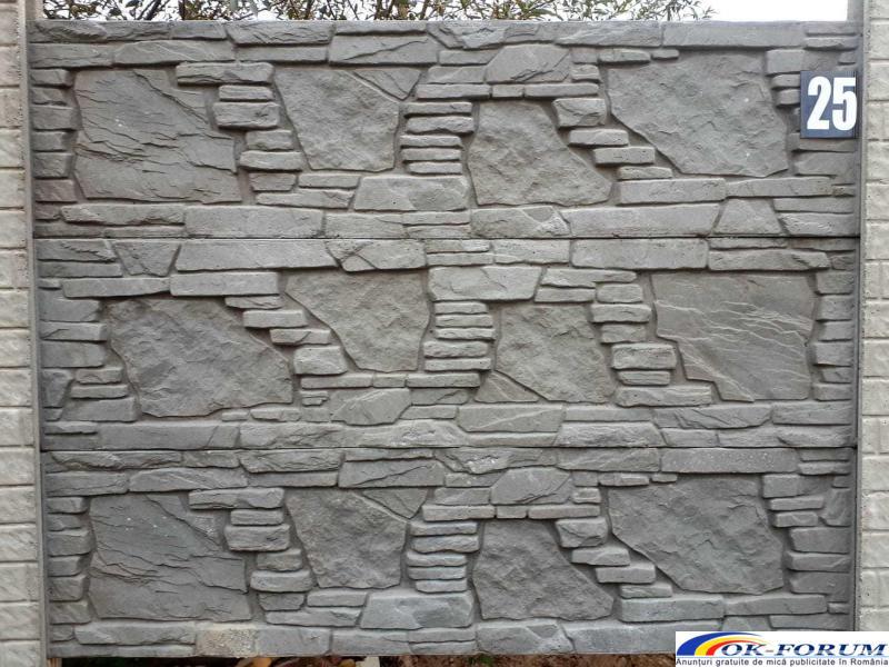 Producem si vindem peste 30 de modele din gard beton vibropresat - 2