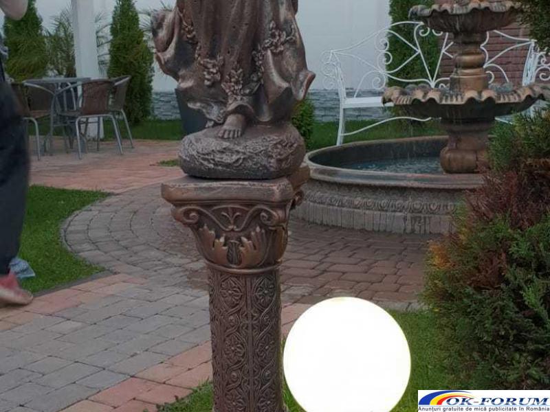 Ingeras beton cu coloana mare statueta ingeras - 1
