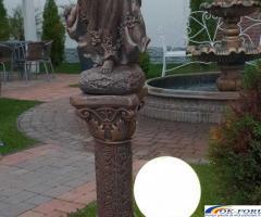 Ingeras beton cu coloana mare statueta ingeras