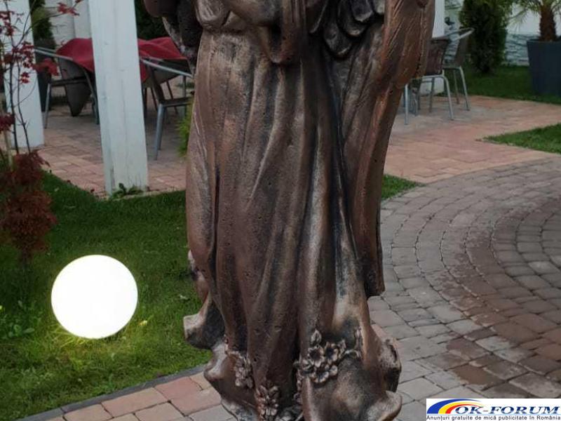 Ingeras beton cu coloana mare statueta ingeras - 4