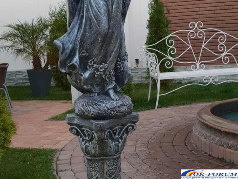 Ingeras beton cu coloana mare statueta ingeras - 5