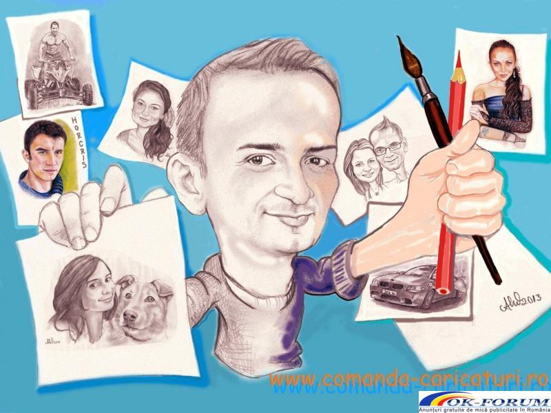 Caricaturi, portrete, picturi, cadoul surpriza pentru cei dragi! - 1