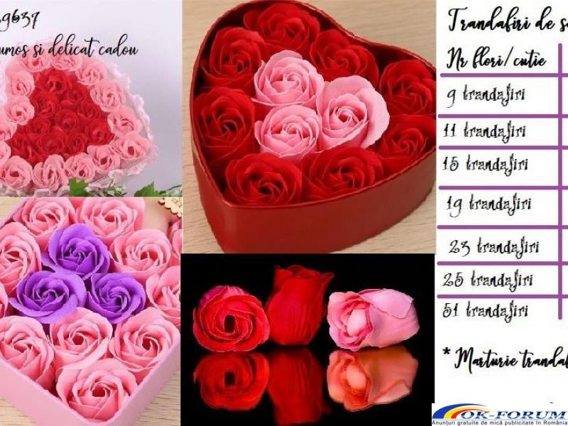 Cutie cadou trandafiri de sapun - 2