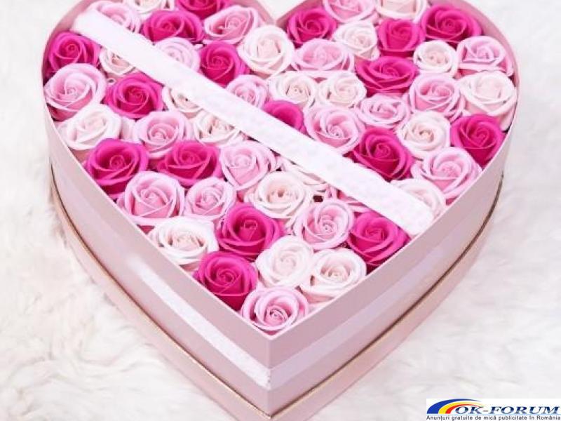 Cutie cadou trandafiri de sapun - 3