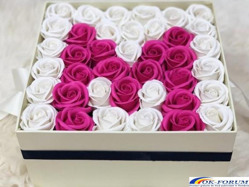 Cutie cadou trandafiri de sapun - 4