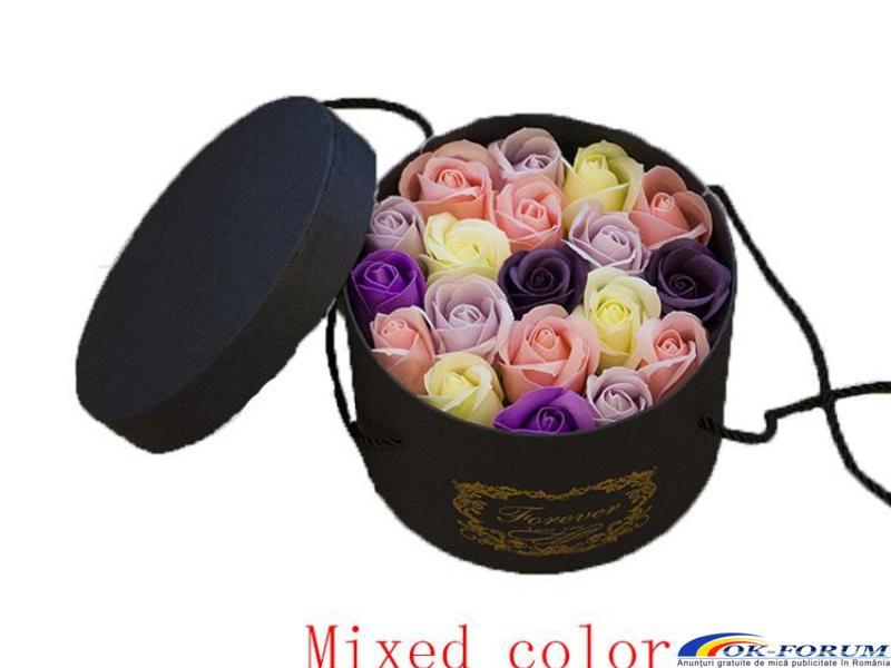 Cutie cadou trandafiri de sapun - 5