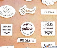 Etichete comestibile pentru paine