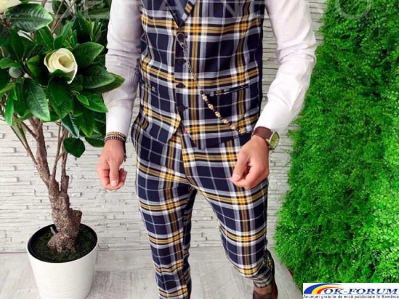 Compleuri pentru barbati engros - vesta + pantaloni eleganti - cele mai bune preturi! - 1