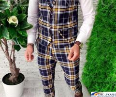 Compleuri pentru barbati engros - vesta + pantaloni eleganti - cele mai bune preturi!
