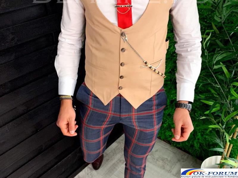 Compleuri pentru barbati engros - vesta + pantaloni eleganti - cele mai bune preturi! - 2
