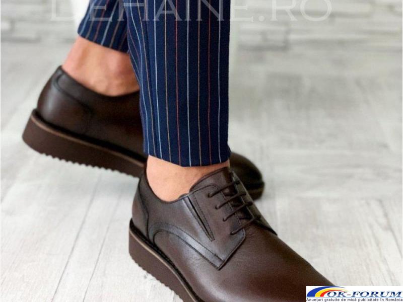 Pantofi din piele naturala pentru barbati engros - cele mai mici preturi! - 5