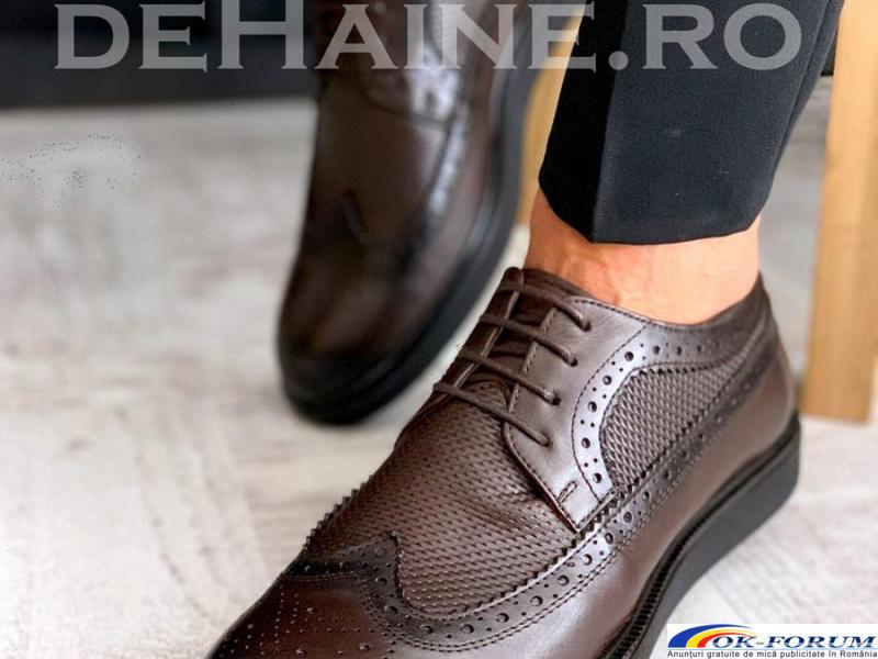 Pantofi din piele naturala pentru barbati engros - cele mai mici preturi! - 6