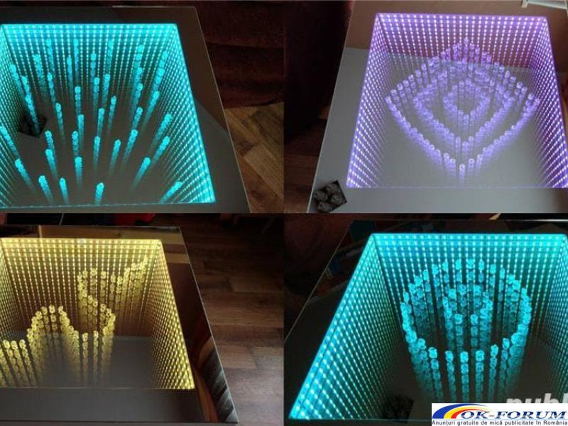 Masa 3D personalizata, masa infinity, masa sticla LED - 2