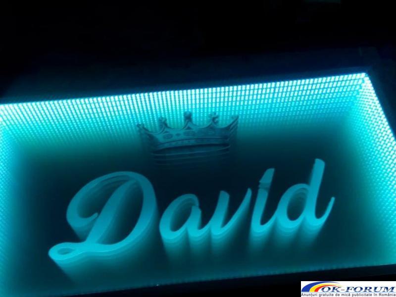 Masa 3D personalizata, masa infinity, masa sticla LED - 4