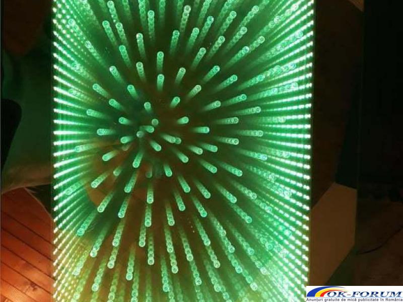 Masa 3D personalizata, masa infinity, masa sticla LED - 5