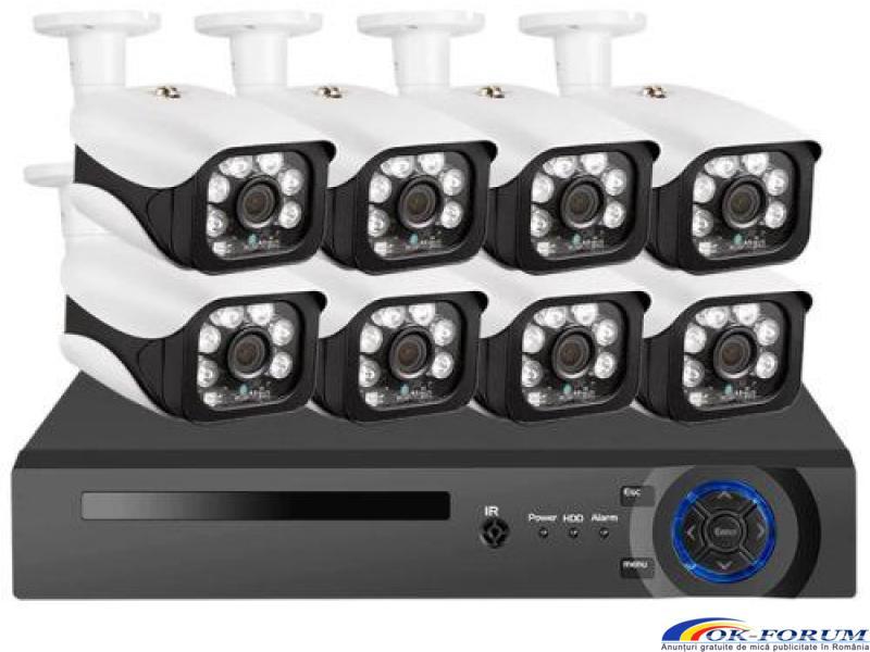 Sistem supraveghere video NVR + 8 IP Camere 5mpx KERUI - 1