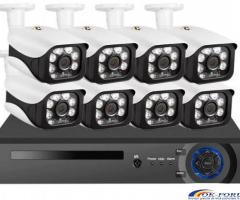 Sistem supraveghere video NVR + 8 IP Camere 5mpx KERUI