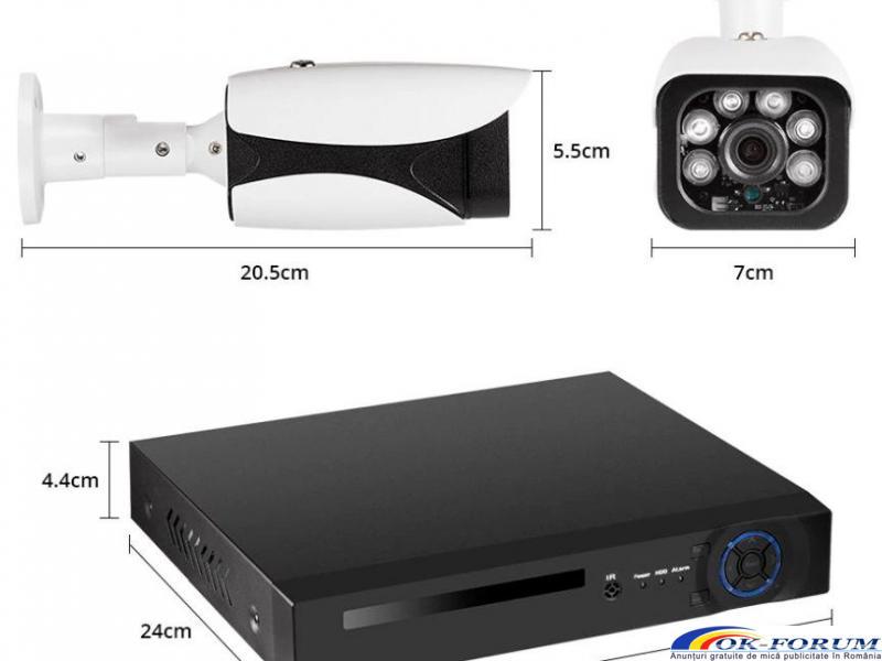 Sistem supraveghere video NVR + 8 IP Camere 5mpx KERUI - 5