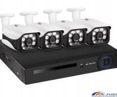 Sistem supraveghere video NVR + 4 IP Camere 5mpx KERUI - Transport gratuit