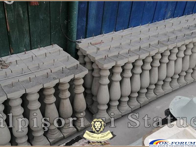 Stalpisori, balustri, popici, mosoare, din beton, model B1. - 2