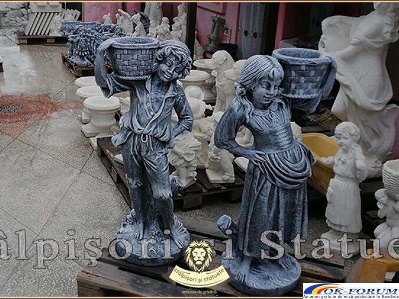 Statuete copii cu cosulete, din beton, model J3,J4. - 1