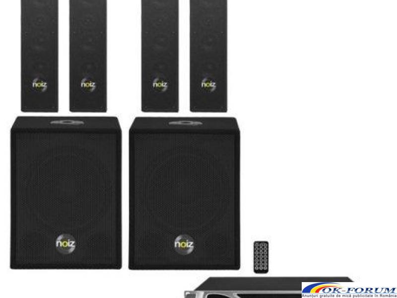 Set sonorizare bar, pub, Noiz Satellite+Bass Box Complete-VPA1000, 1000W - 1