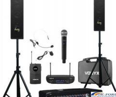 Kit sonorizare portabil Presenter 8, boxe, microfoane wireless, stative