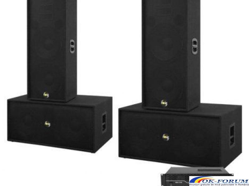 Set boxe sonorizare Noiz Bass-Line, 2000W RMS, Complet - 1