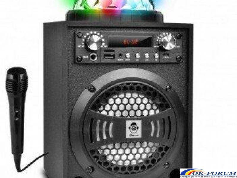Boxa karaoke cu microfon si Disco Glob LED 20W iDance Blaster 5 Bk, FM, Bluetooth - 1