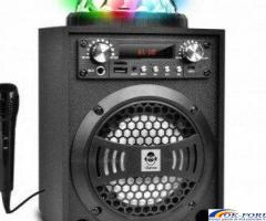 Boxa karaoke cu microfon si Disco Glob LED 20W iDance Blaster 5 Bk, FM, Bluetooth