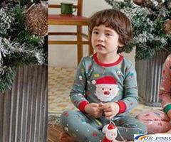 Pijamale copii,  model Mos Craciun